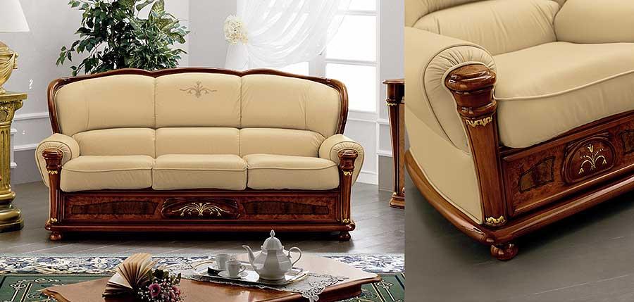 Элитные диваны. Кожаные диваны, эксклюзивные диваны в мехе, элитные диваны в ткани. Модель Lamberty.